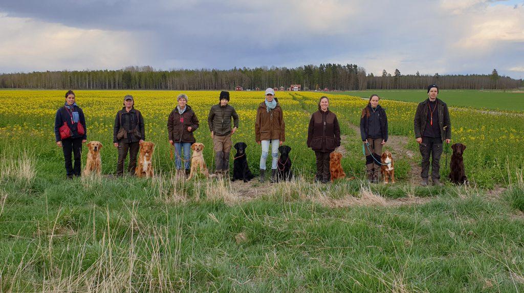 Deltagare i jaktlydnadskursen 2020